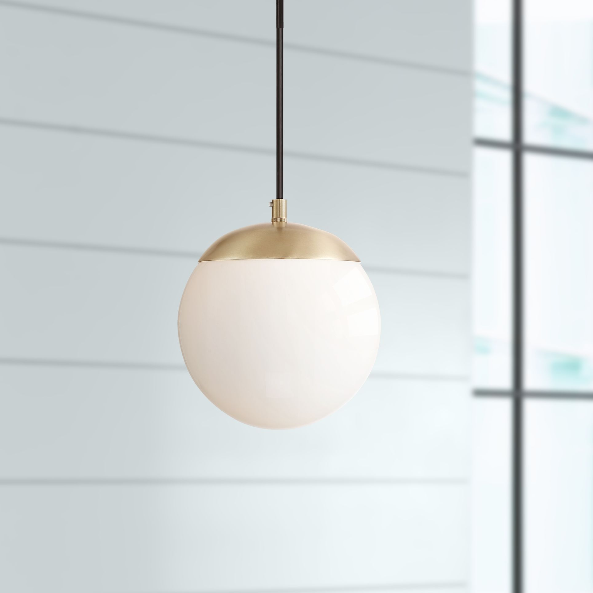 Image of: Possini Euro Design Warm Brass Mini Pendant Light 8 Wide Mid Century Modern Led Opal Glass For Kitchen Island Dining Room Walmart Com Walmart Com