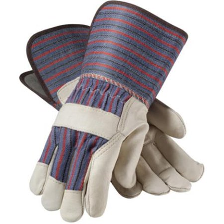 Pip Glove 87-1663-S Cowhide Leather Palm, Gauntlet Cuff Gloves - Small, Pack of 12