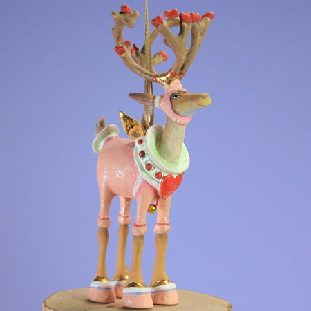 Patience Brewster Mini Dashaway Cupid Reindeer Ornament Christmas Holiday Tree Decoration, Measures 5