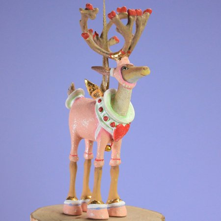 Reindeer Tree Ornament - Patience Brewster Mini Dashaway Cupid Reindeer Ornament Christmas Holiday Tree Decoration, Measures 5