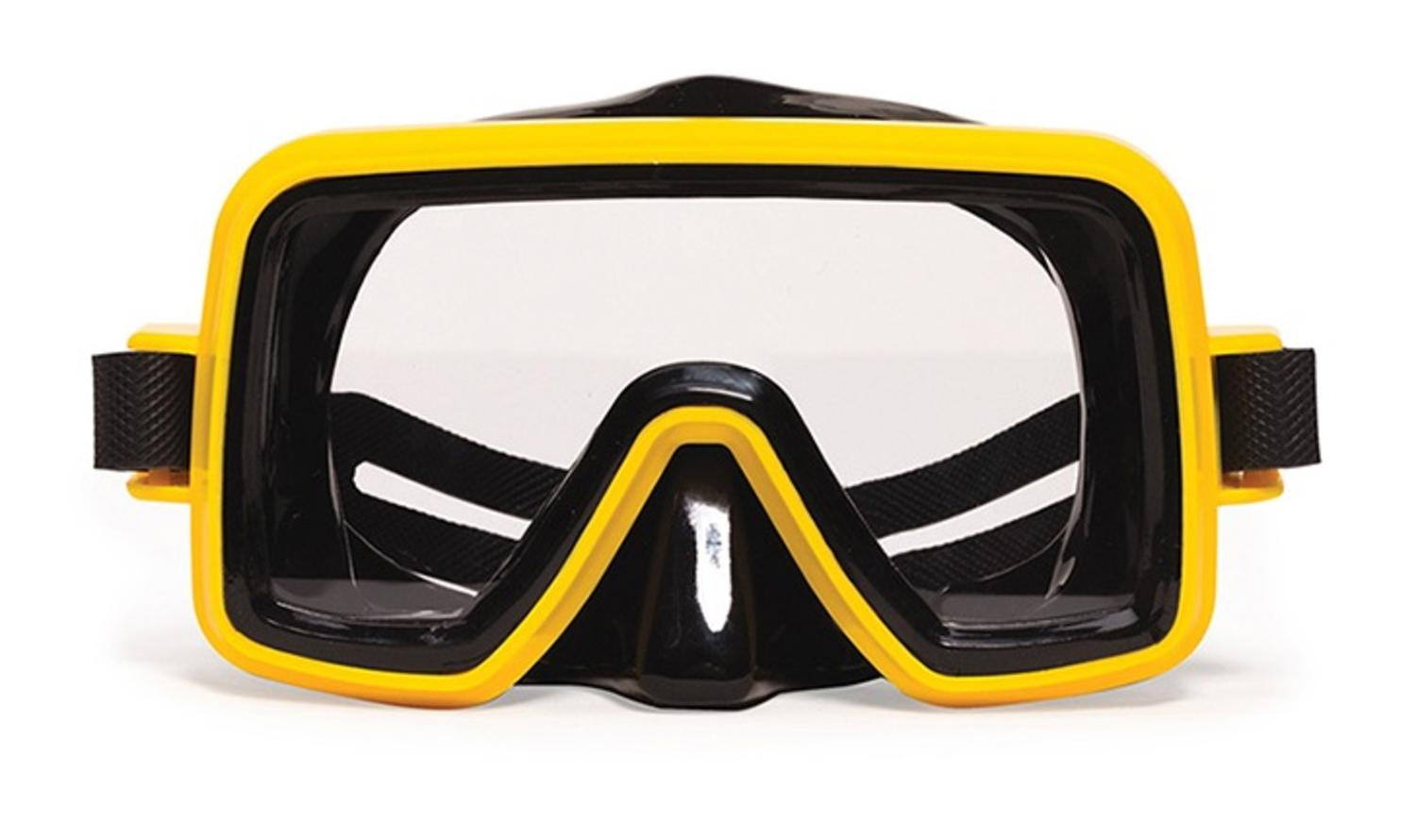 """7.25"""" Bahama Sport Yellow Mask Swimming Pool Accessory for Adults by Swim Central"""