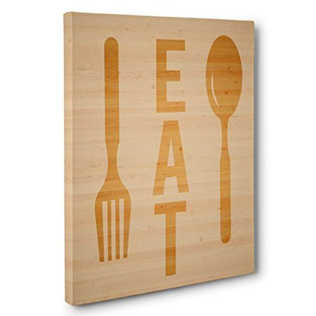 Wooden Spoon and Fork Canvas Wall Art - Walmart.com