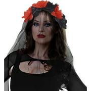 Red And Black Flower Headband Halloween Costume Accessory
