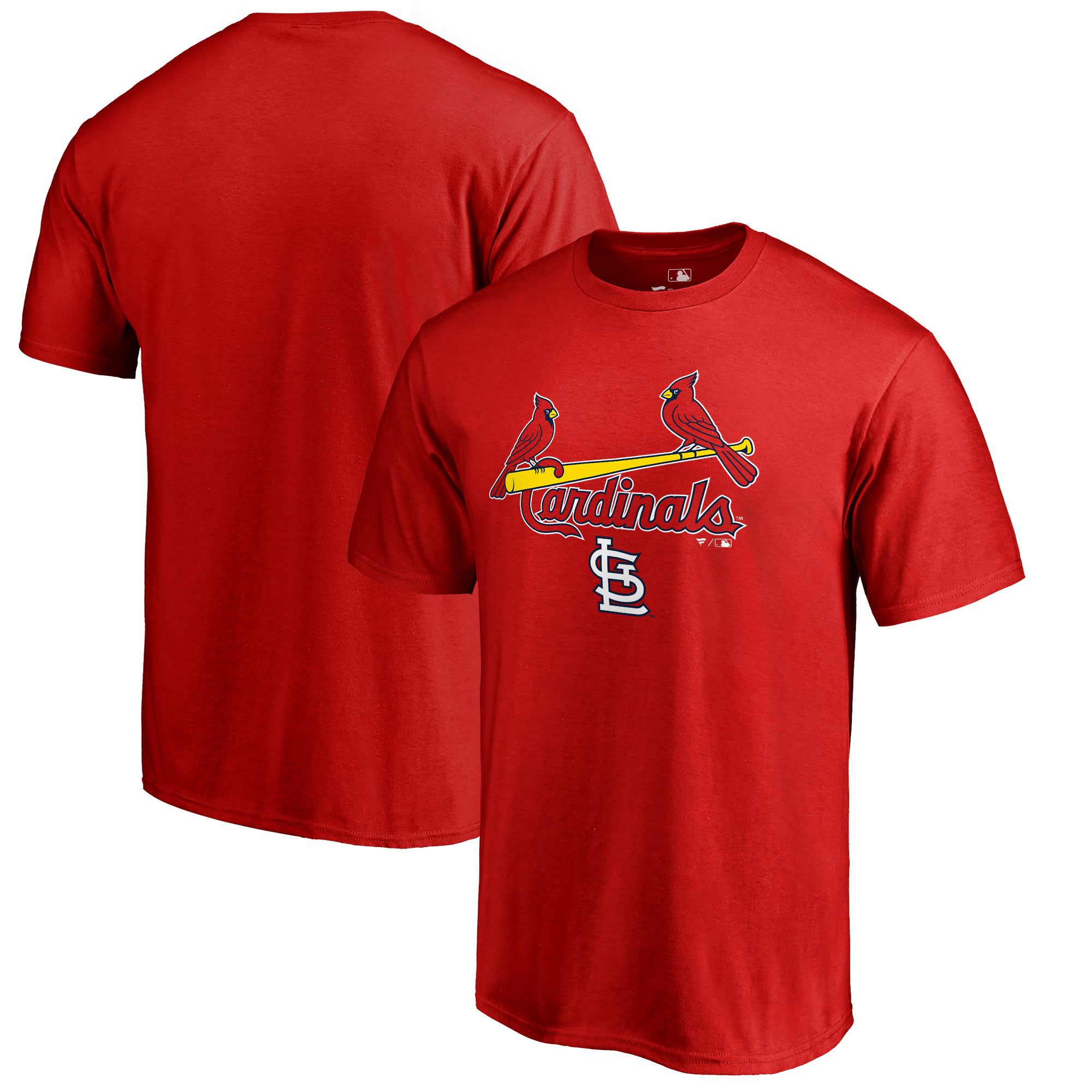 St. Louis Cardinals Fanatics Branded Big & Tall Team Lockup T-Shirt - Red