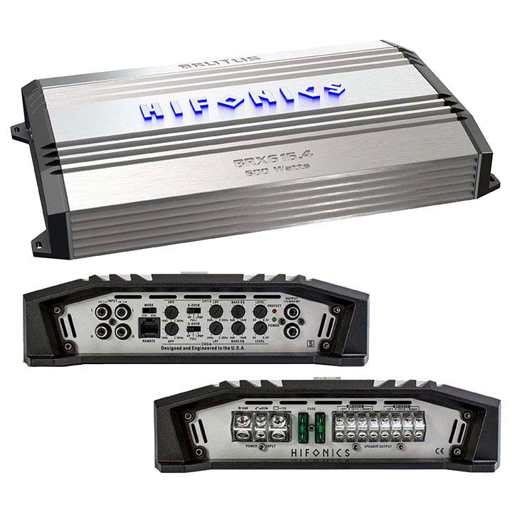 Hifonics BX616.4 Brutus 4-Channel Super A/B Class Amp, 640 Watts