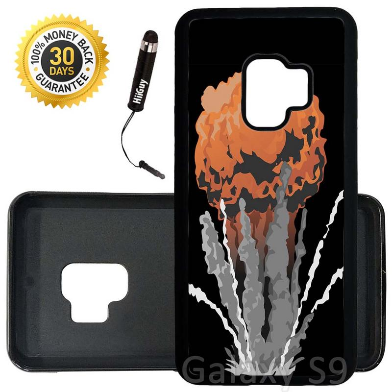 Custom Galaxy S9 Case (Nuke Bomb Mushroom Cloud) Edge-to-Edge Rubber Black Cover Ultra Slim | Lightweight | Includes Stylus Pen by Innosub
