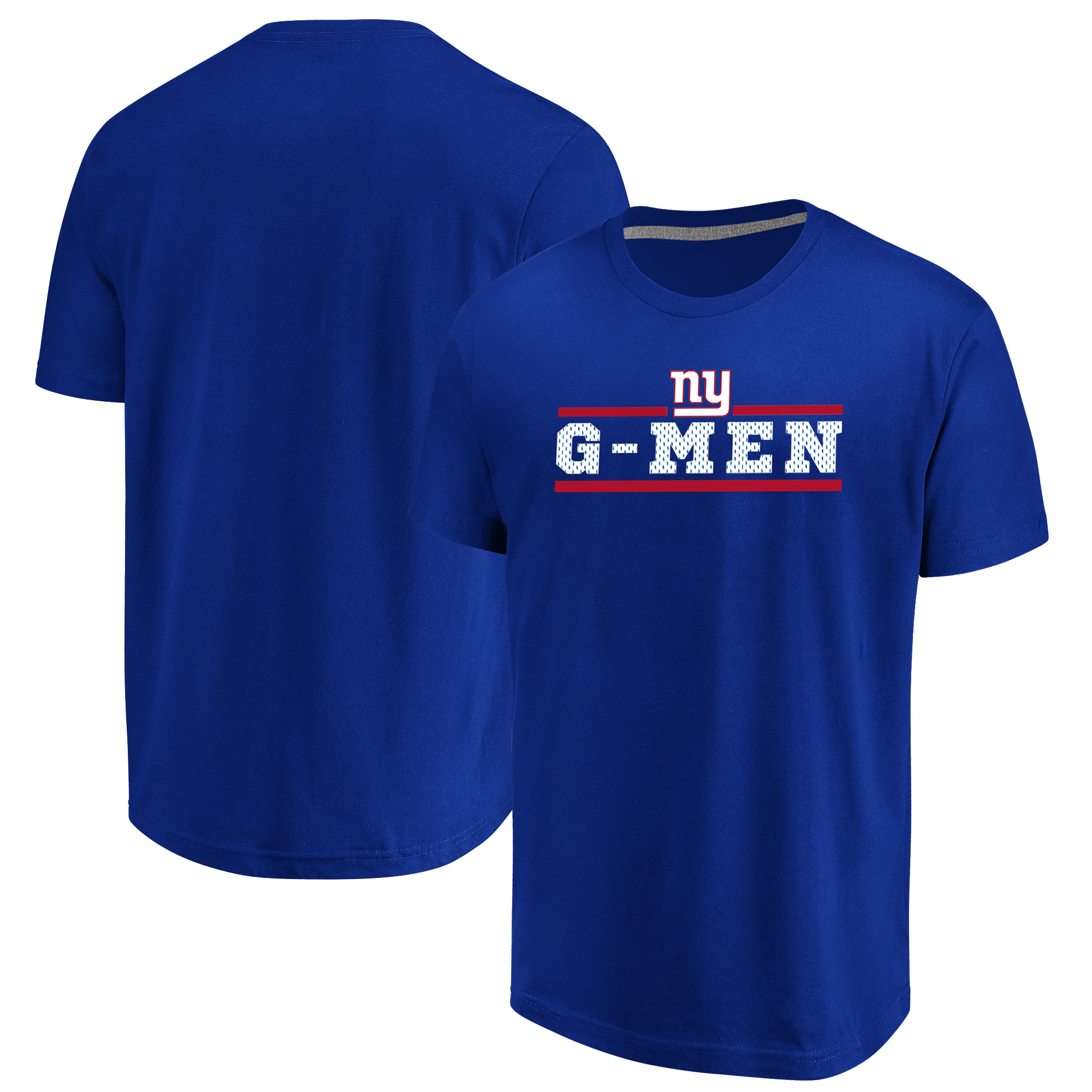 New York Giants Majestic Safety Blitz T-Shirt - Royal