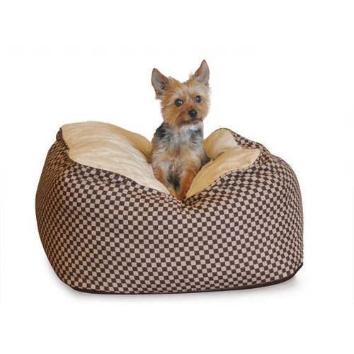 "K&H Pet Products Deluxe Cuddle Cube Pet Bed, Large, Black, 30"" x 30"" x 12"""