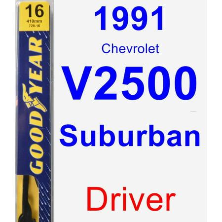 1991 Chevrolet V2500 Suburban Driver Wiper Blade - Premium