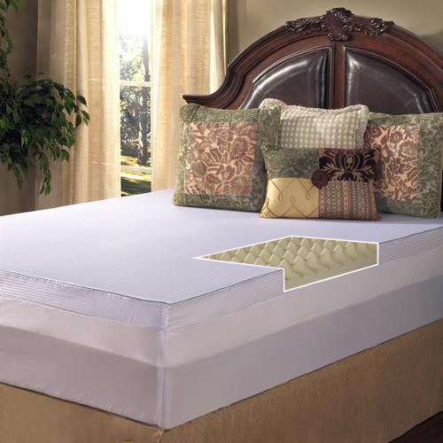 Grande Hotel Collection Big Comfort 4-inch Memory Foam Mattress Topper with Cover Full