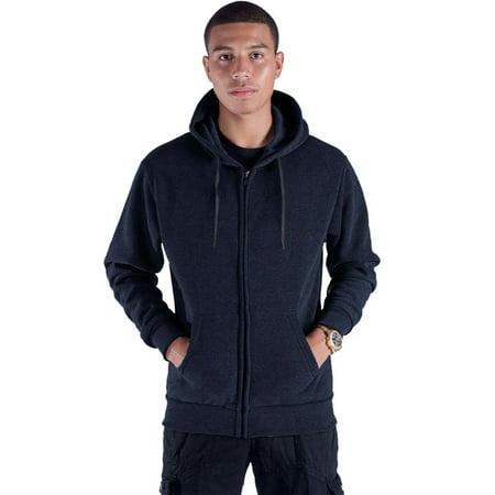 - Men's Solid Full Zip Classic Casual Active Fleece Hoodie Jackets