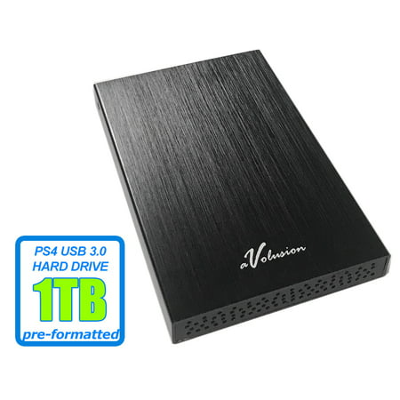 Avolusion (HD250U3-BK-1TB-PS) HD250U3 1TB USB 3.0 Portable External Gaming PS4 Hard Drive (PS4 Pre-Formatted) - Retail w/2 Year Warranty