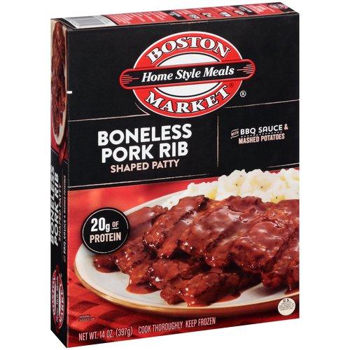 Boston Market Home Style Meals Boneless Pork Rib Shaped Patty, 14 oz