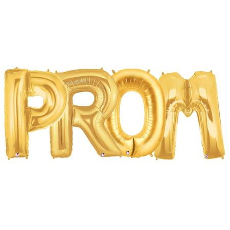 Prom Balloons (Jumbo Gold Foil Balloons-PROM)