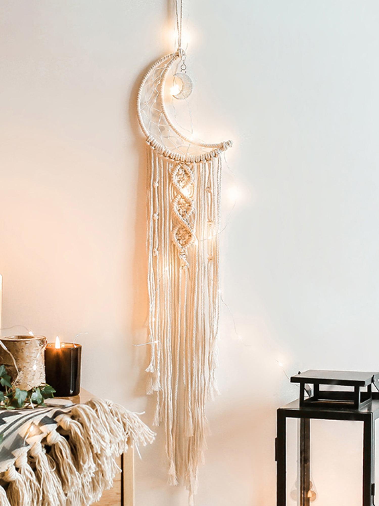 Macrame Woven Wall Hanging Tapestry Boho Chic Bohemian Home Art Decor Handmade