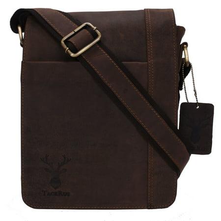 Genuine Leather Expandable Portfolio Messenger Shoulder Bag Brief Case 18MB228