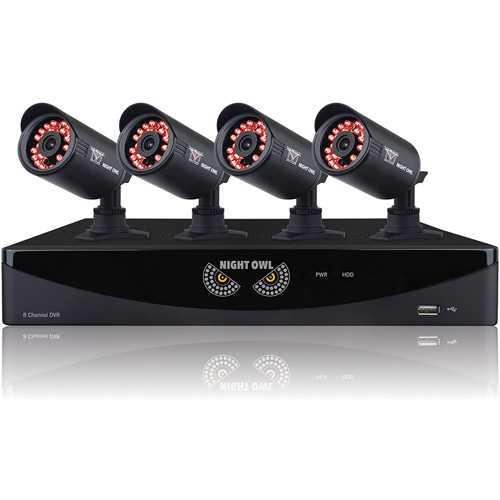 Night Owl 8-Channel F6 Series 960H DVR with HDMI, 1TB HDD and 4 x 650 TVL Cameras