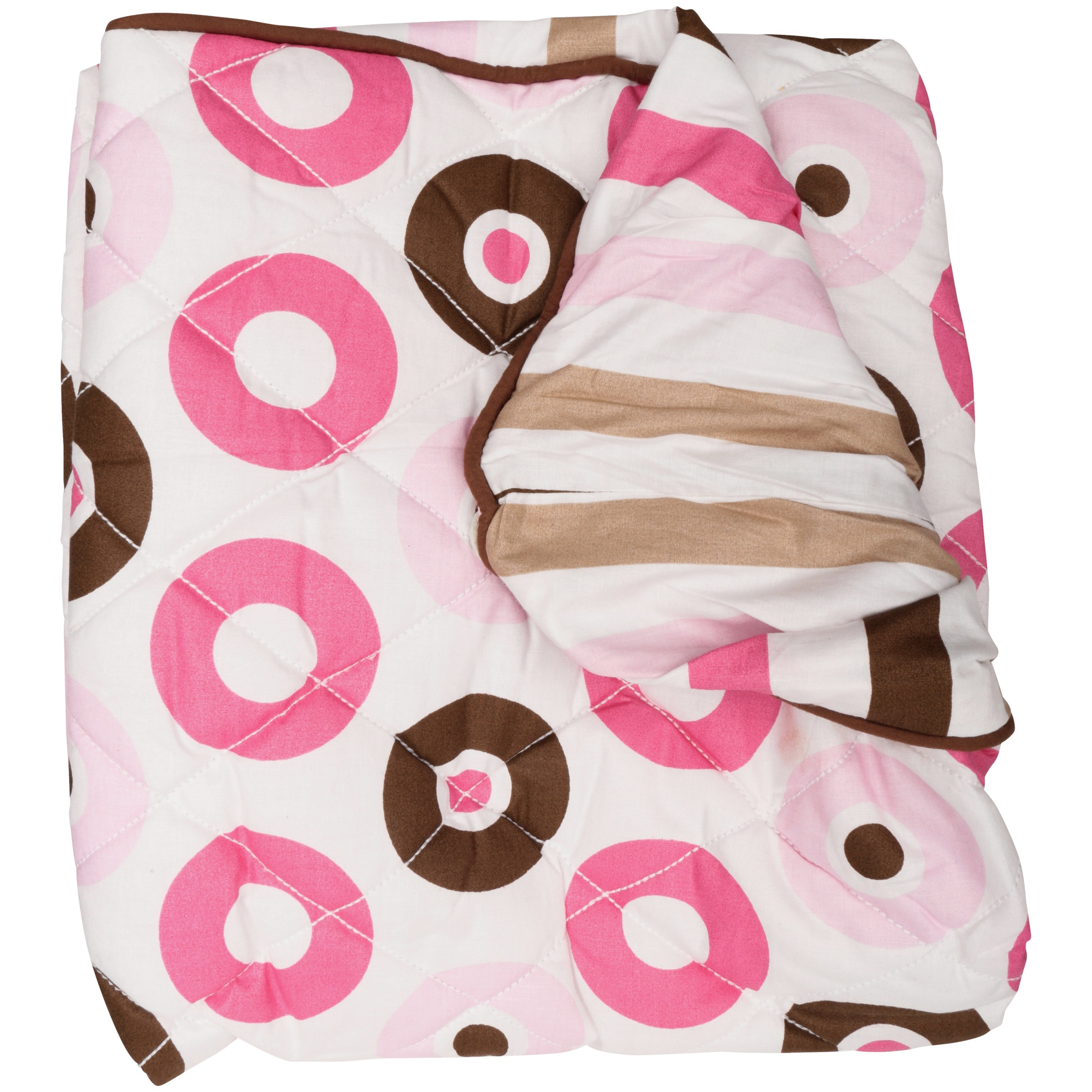Bacati Pink and Chocolate Dots Changing Pad Cover