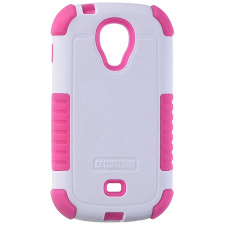 Duo Shield Durable Hybrid Hard Shell and Silicone Gel Case for Samsung Galaxy Light T399 - Non-Retail Packaging - White/Hot Pink, Dual layer shock.., By Beyond Cell