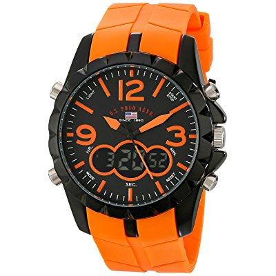 u.s. polo assn. sport men's us9057 black metal watch with...