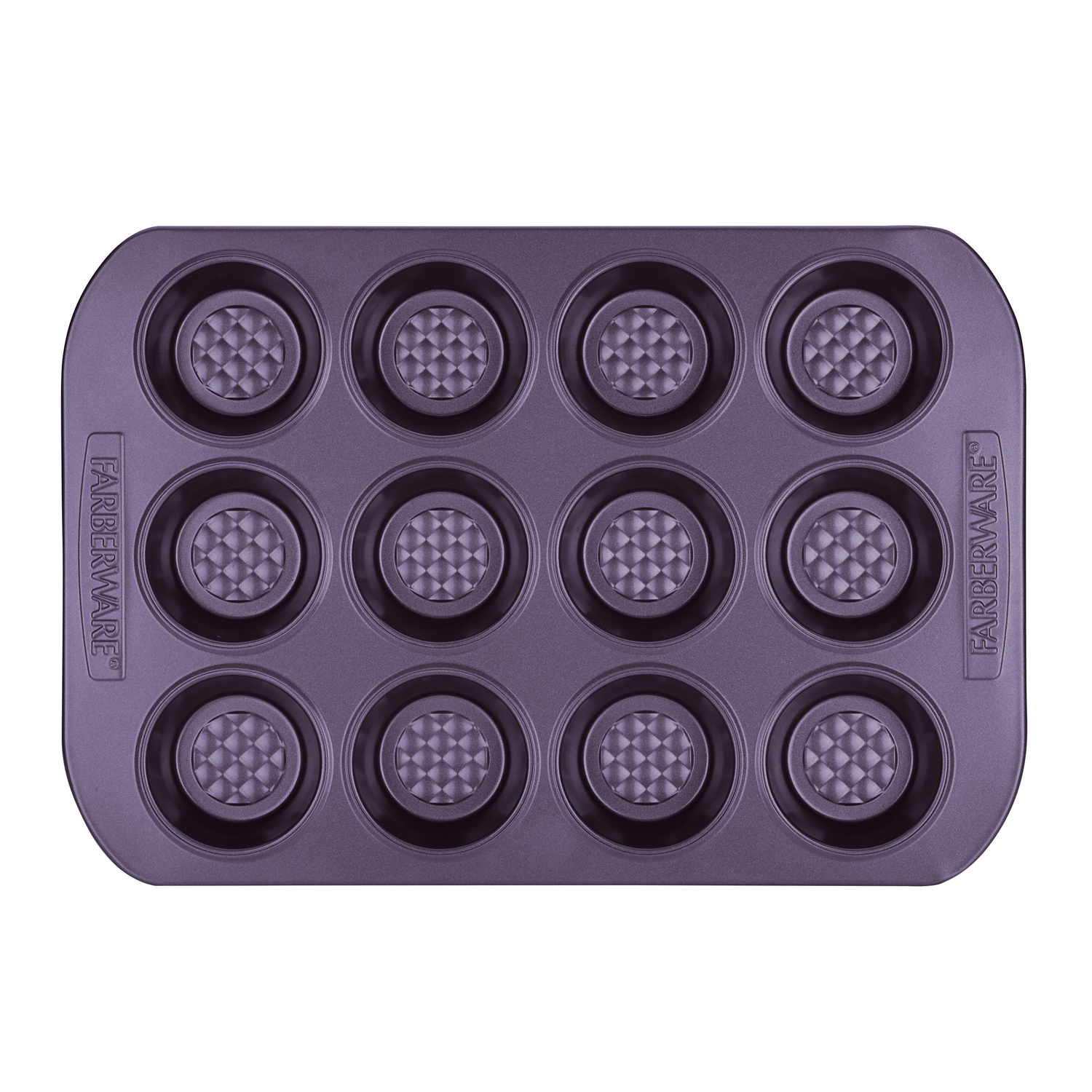 Farberware Colorvive Nonstick Muffin Pan, 12-Cup, Red