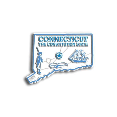 - Connecticut the Constitution State Map Fridge Magnet