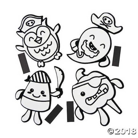 Color Your Own Fuzzy Halloween Pirate Magnets Kit](Make Your Own Halloween Yard Decor)