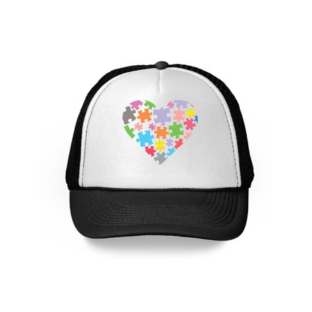 Awkward Styles Autism Love Puzzle Hat Autism Awareness Hats for Men and Women Autism Cap Autism Heart Puzzle Hat Autism Love Gifts for Him and Her Autism Puzzle Cap Autism Awareness Month Autism Gifts