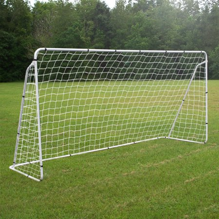 Zeny 12' x 6' Steel  Portable Soccer Goal Net Steel Post Frame Backyard Football Training Set Quick Easy to Setup for Training  Outdoor Kids