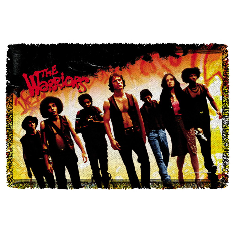 Warriors Walk Woven Throw Tapestry 36X60 White One Size