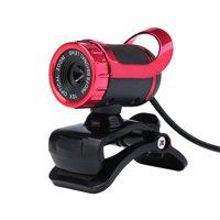 Desktop Webcam USB 2.0 Cam Laptop camera Built-in Sound-absorbing Microphone Video Call Webcam for PC Laptop Red