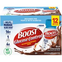 Boost Glucose Control Ready to Drink Nutritional Drink, Rich Chocolate, 12 - 8 FL OZ Bottles