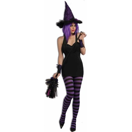 Black Witch Broom Costume Accessory Prop Decor Halloween Decoration Wicked Stick (Moving Broom Halloween)