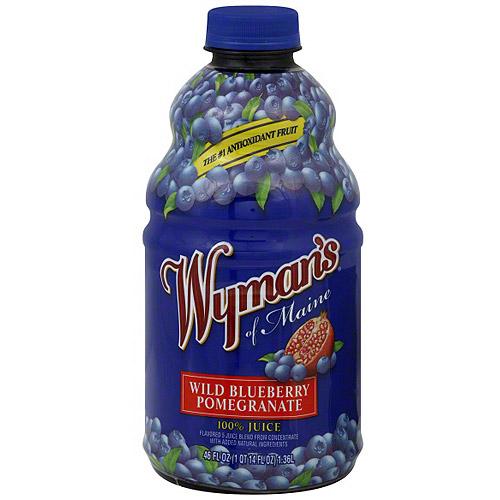 Wyman's Of Maine Wild Blueberry Pomegranate Juice, 46 oz (Pack of 8)