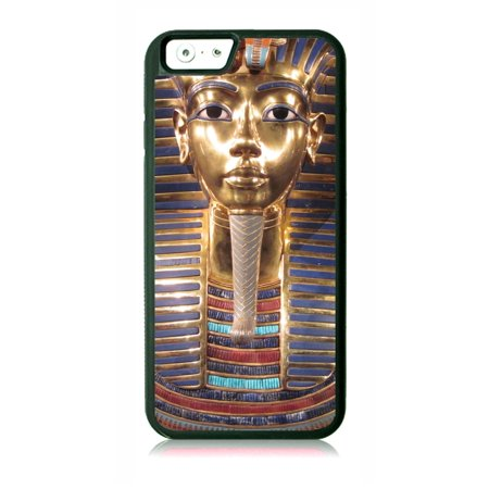 King Tut - Egyptian Pharaoh Tutankhamun Black Rubber Case for the Apple iPhone 7 / iPhone 8 - iPhone 7 Accessories - iPhone 8 Accessories](Black Pharaohs)