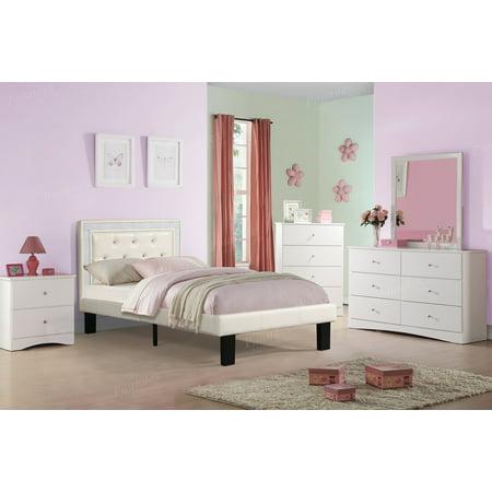 Poundex F9374T Bobkona Heartland Twin Bed, Cream