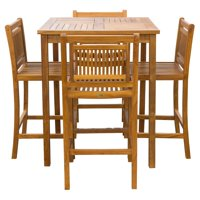 Chic Teak Maldives Teak 5 Piece Patio Dining Set