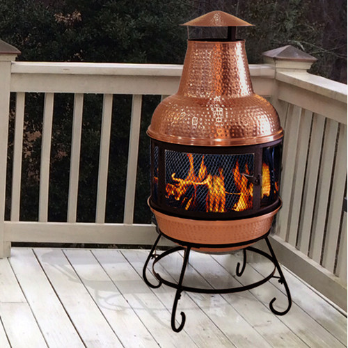 Deeco Cape Copper Wood Burning Chiminea by Deeco