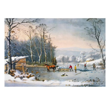 Currier & Ives Winter Scene Print Wall Art By Currier & Ives Currier & Ives Scene