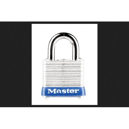 Master Lock 1-1/8 in. 4-Pin Cylinder Laminated Steel Padlock ()