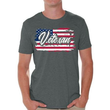 Awkward Styles Veteran T-Shirt Veteran Mens Tshirt Veteran Shirt for Men US Flag Shirt for Men American Proud T-Shirt for Men US Veteran Gifts for Him Patriotic Gifts Stripes and Stars American Style