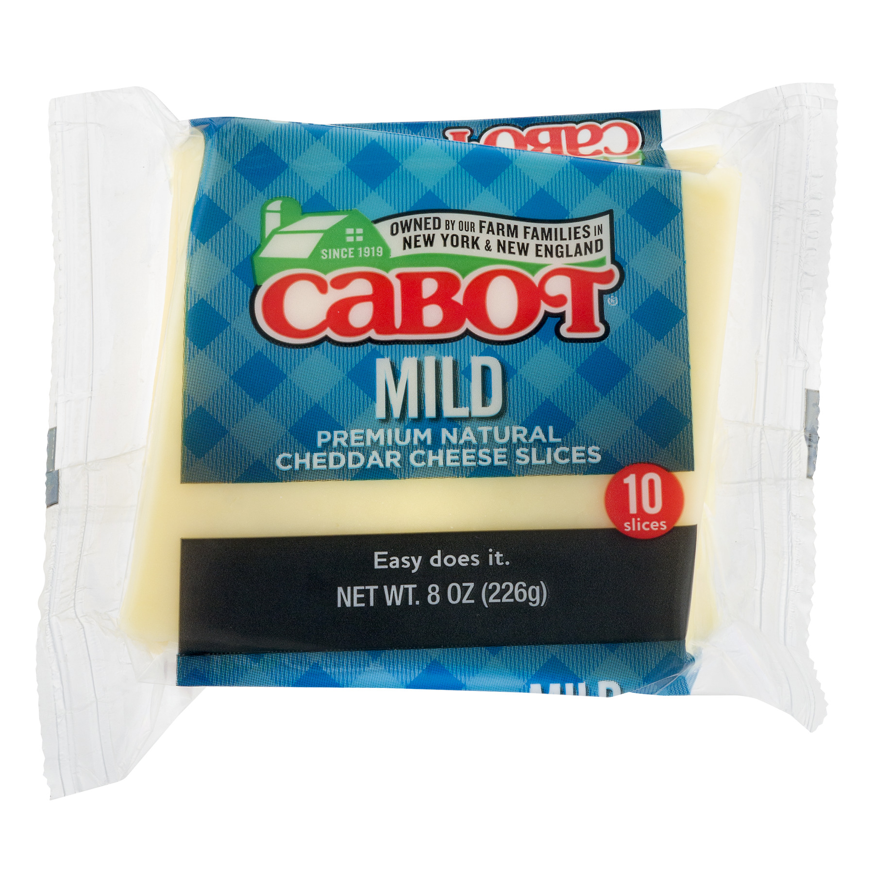 Cabot Mild Cheddar Cheese Slices - 10 CT8.0 OZ