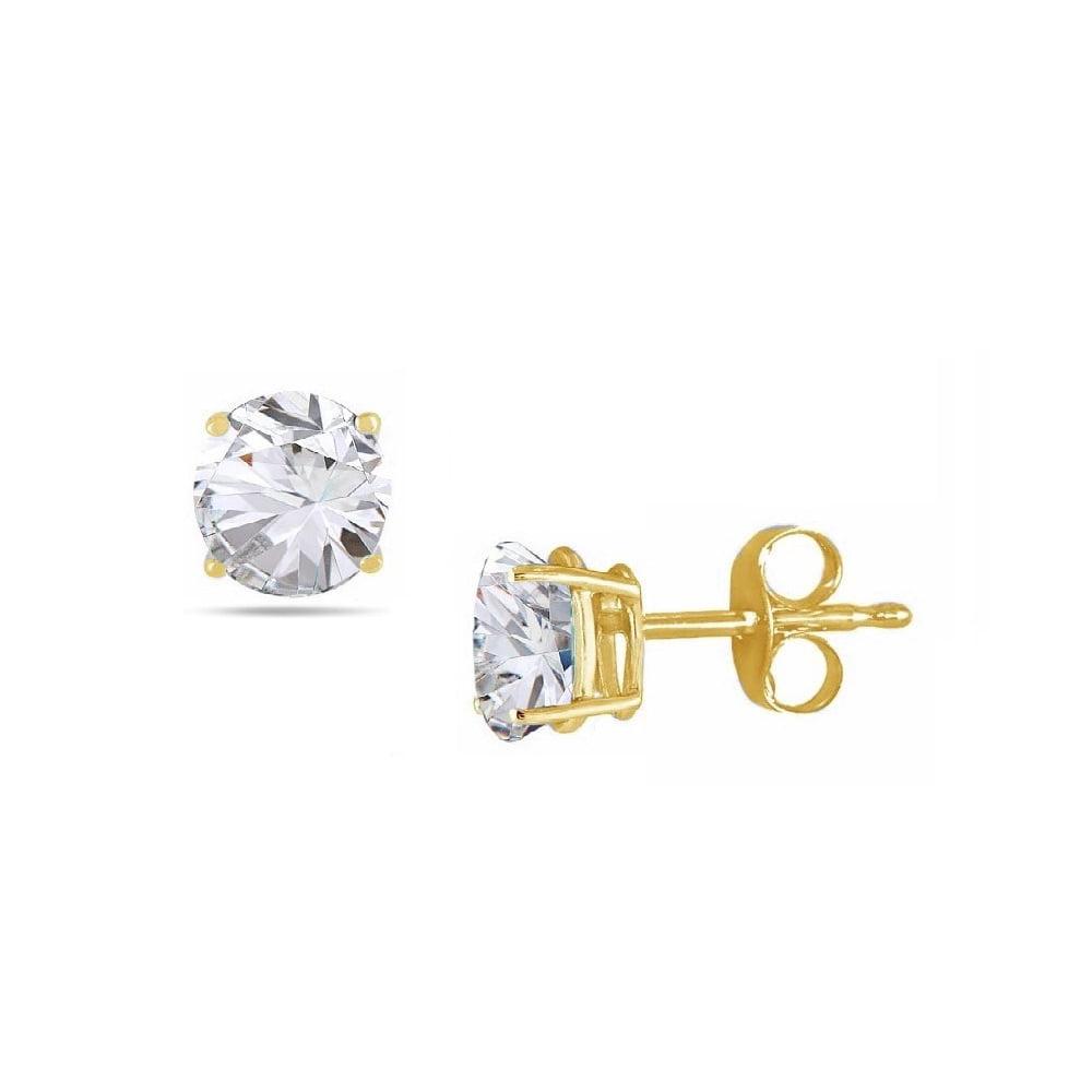 Pori Pori Jewelers 14k Gold 2 0cttw Round Genuine White Topaz