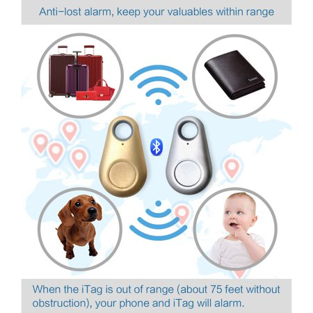 iTag Wireless Bluetooth v4 0 Anti-Theft Device & Valuables GPS Tracker with  Shutter Remote