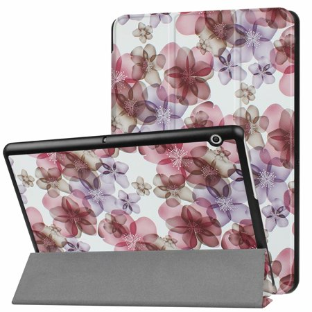 Dteck Huawei Mediapad T3 8.0 Case, Tri-fold Pattern PU Leather Kickstand Slim Lightweight Shockproof Case (T3 Cast)