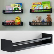 1 Black Baby Nursery Room Wall Shelf Wood 17.5 Inch Ships Fully Assembled