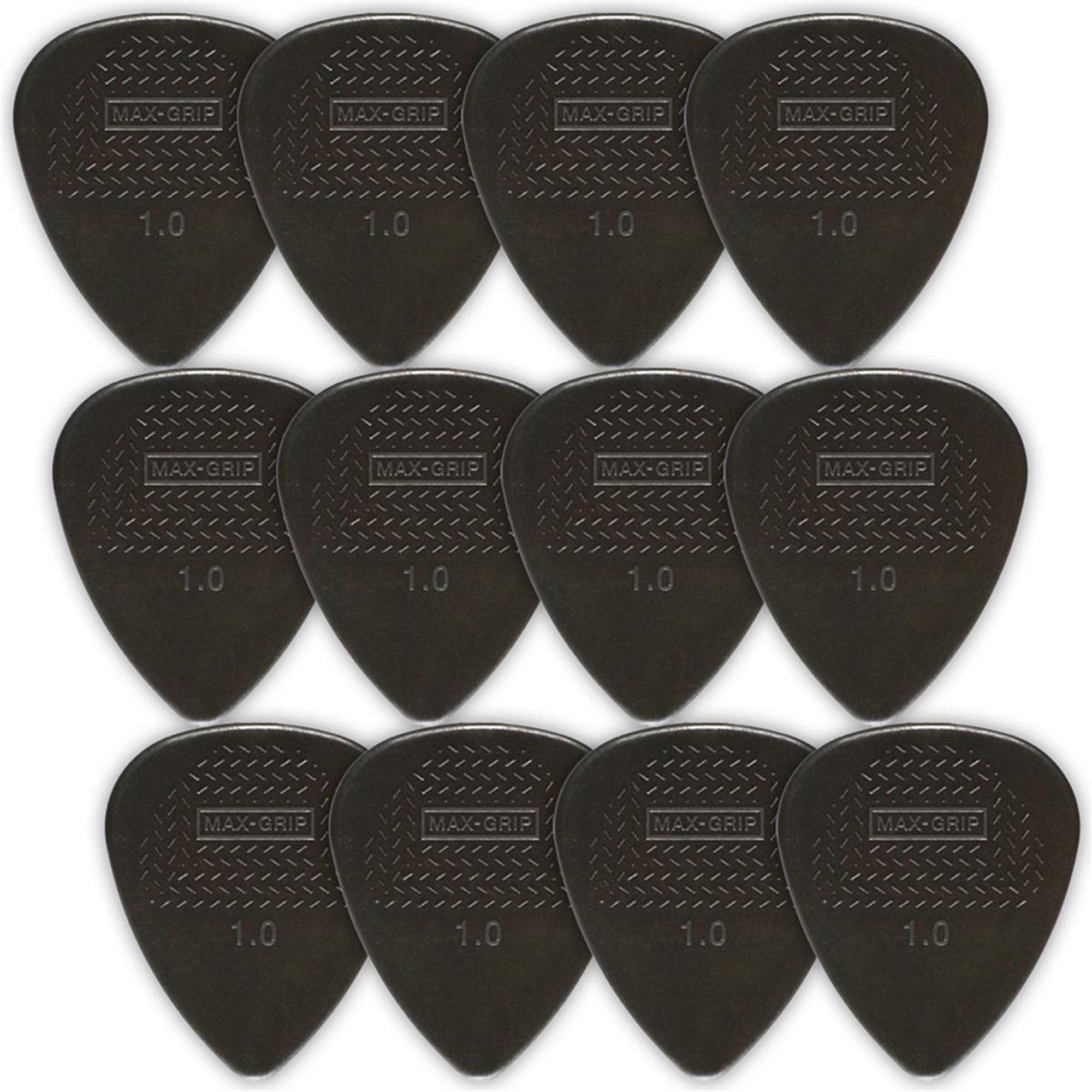 Dunlop Nylon Standard Guitar Picks, 12-Pack, 1.0mm, Black by Dunlop