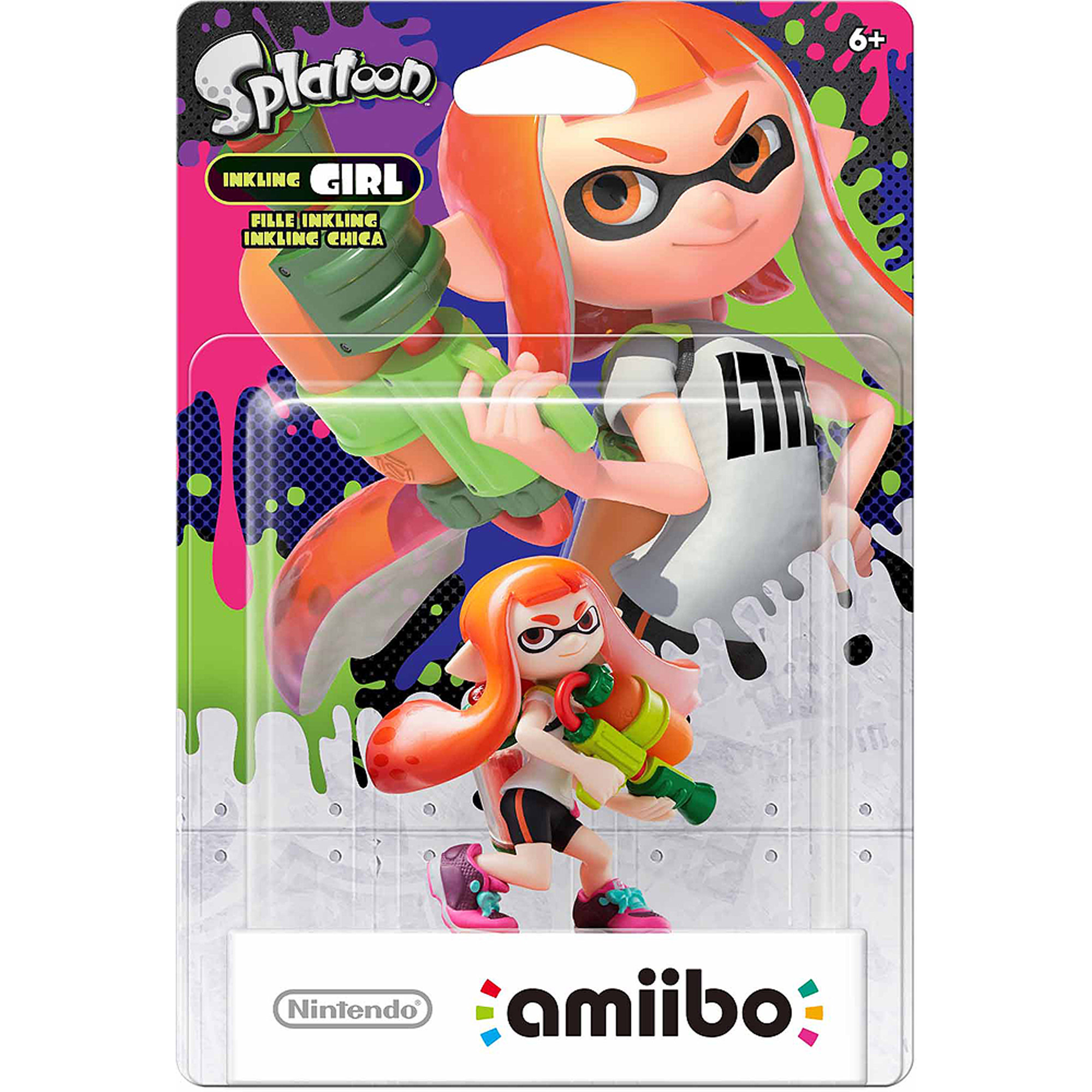 Inkling Girl Splatoon Series Amiibo (Nintendo WiiU or Nintendo 3DS)
