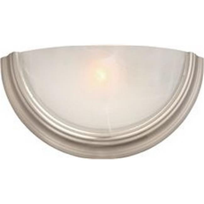13-watt 4-Pin lamp-2493765 Brushed Nickel with Alabaster Glass 14-3//4 X 7-1//2 in 1 Monument Wall Sconce Uses