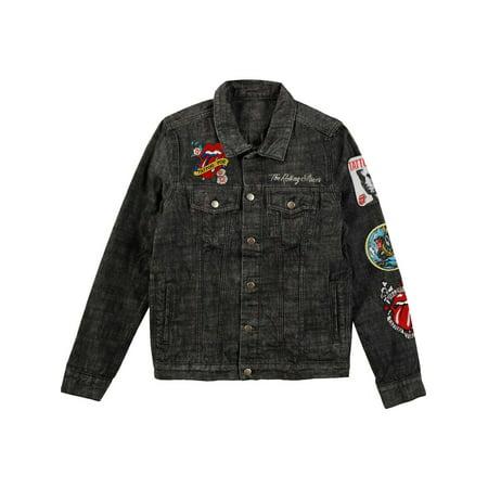 d25e46e22db Rolling Stones - Rolling Stones Men s Dragon Denim Jacket Denim Jacket Denim  - Walmart.com